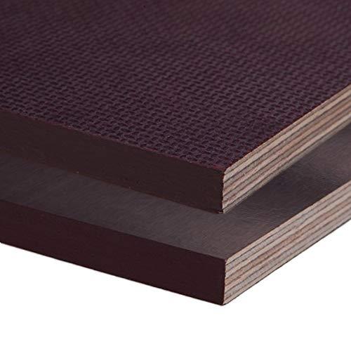Siebdruckplatte 24mm Zuschnitt Multiplex Birke Holz Bodenplatte (50x50 cm)
