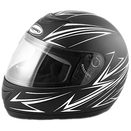 Saferide Integralhelm Black Weiß Matt Xl 61 62 Cm Helm Motorrad Quad Damen Herren Roller Gesichtsschutz Klapphelm Erwachsene Regenschutz Sturzhelm Motorradhelm Moped Mofa Auto