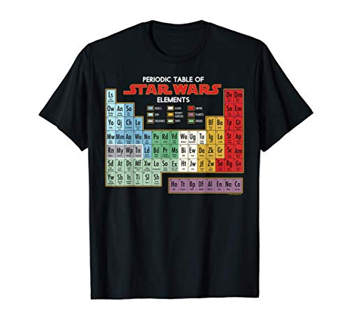 Star Wars Periodic Table Of Elements Graphic T-Shirt T-Shirt
