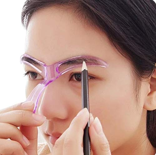 Augenbrauen Schablone für Anfänger, Wiederverwendbar DIY-Augenbrauen Stempel für 3 Minuten Make-up (ROSE)