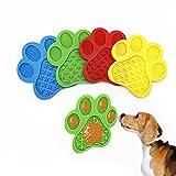 GODPAK - Juego de 4 alpisas de leche para perro, alfombra de ligera, de silicona, alimentación lenta con ventosa, para baño y aseo de perro o gato