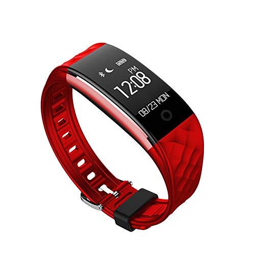 LYXLQ Reloj Inteligente, pulsaciones de Ritmo cardíaco Monitoreo dinámico Bicicleta Deportes Monitoreo del sueño Contador de Pasos Información de Bluetooth Push Watch