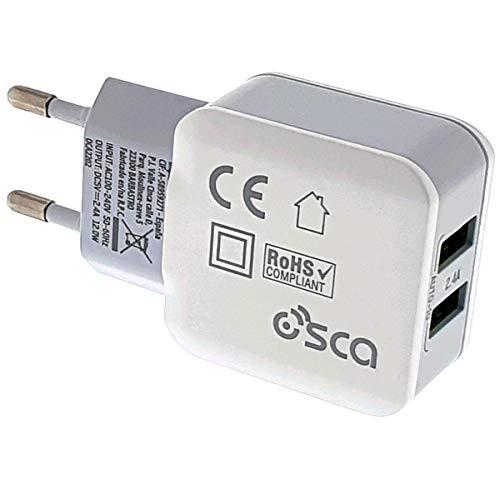 Osca Connect Cargador 2 USB 2.4A(Auto MAX) 12W