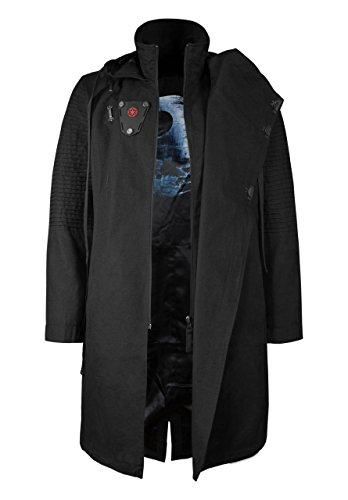Musterbrand Star Wars Cappotto Uomo Sith Lord Limited Edition Giacca Nero XS
