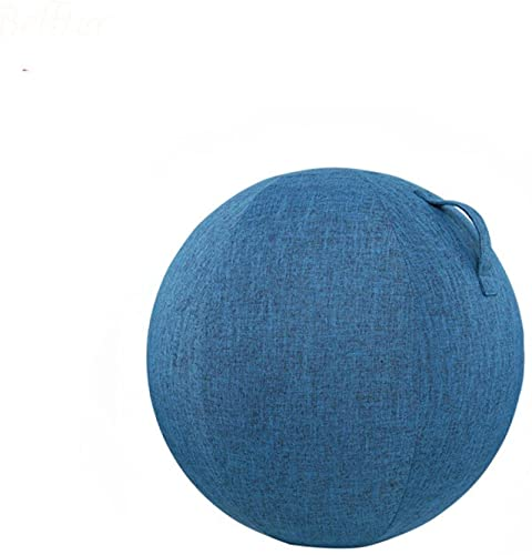 GJPSXTY Fitness Ball Funda para Silla Oficina a Prueba de explosiones Pelota para Sentarse para Gimnasio Hogar Suave para Pilates Yoga Parto Abdominal con asa (Solo Cubierta) 55CM Azul Oscuro
