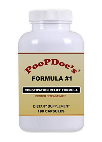 PoopDoc's Constipation Relief Formula #1 (Large Bottle - 180 Cap)