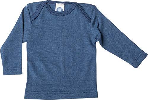 Cosilana, Baby Unterhemd langarm, 70% Wolle 30% Seide (86/92, Marine)