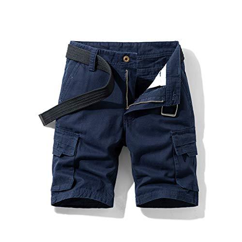 FRAUIT Bermuda Cargo Uomo da Lavoro Shorts Pantaloncini Corti Ragazzo con Tasche Laterali Pantalone Uomini Estivo Corto Pantaloni Slim Fit Casual Tronchi Spiaggia Piscina Mare