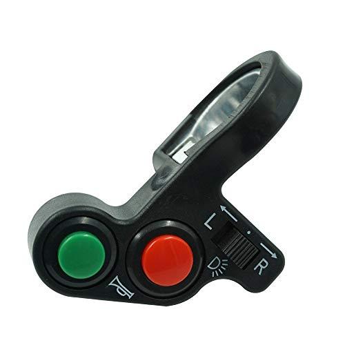 Partes de motocicleta Manillar de la motocicleta 7/8'Apague el claxon de flash Botón del faro de la motocicleta Interruptor de control del manillar Piezas de la motocicleta (Color : Black)