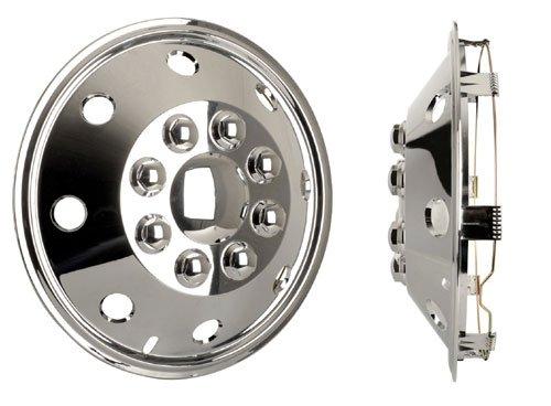 Universele wieldop (1 stuks) chroom 14 inch, geschikt voor campers, auto's en bestelwagens.