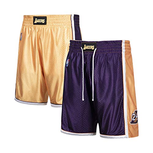 XXJJ Kobe Jersey Sportswear - Camiseta de manga corta reversible (24 unidades), color negro y morado