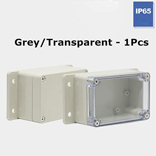 R SODIAL 85x58x33mm Cubierta transparente impermeable Caja de proyecto de cable electronico de plastico estuche cerco