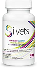aoe SILVETS Premium Healthy Weight Loss as Desired Effective Fat Burning Booster Ideal Appetite Suppressants it decreases Hunger Speed up Metabolism and give More Energy 60 Capsules 720 mg Estimated Price : £ 59,95