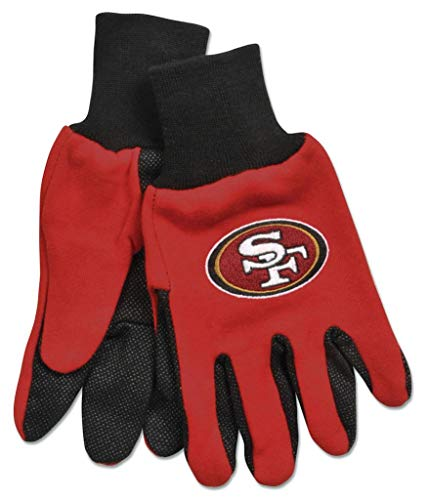 WinCraft NFL San Francisco 49ers Two Tone Style Youth Size Gloves, One Size, Team Color