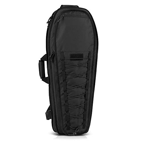 Savior Equipment T.G.B 30' 34' Discreet Tactical Rifle Soft Case Multi-Firearm Carrier Shoulder Sling Pack Padded Bug-Out Bag For Concealed Carry - Low Profile, Hidden MOLLE Panel, Hook-N-Loop Webbing