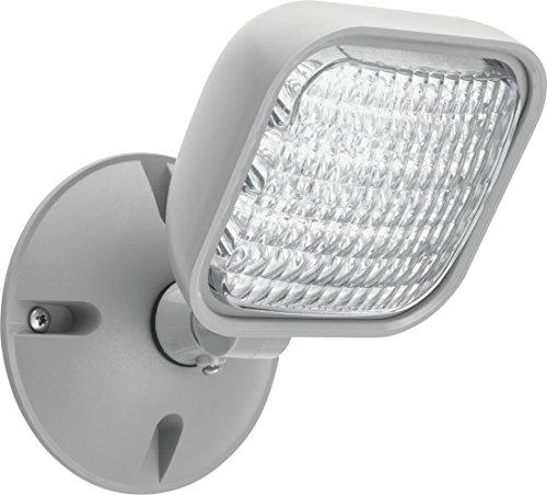 Lithonia Lighting ERE GY SGL WP M12 LED One Single Head Emergency Light, Gray