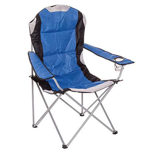 LOLAhome Silla Plegable de Camping de Acero (Premium Acolchado)