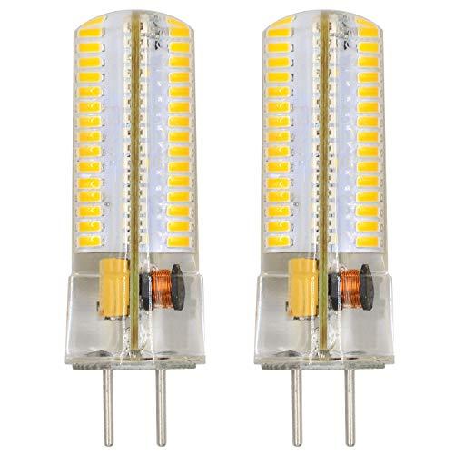 MENGS 2 Stück GY6.35 6W LED Lampe 120x3014 SMD Warmweiß 3000K AC/DC 12V Mit Silikon Mantel
