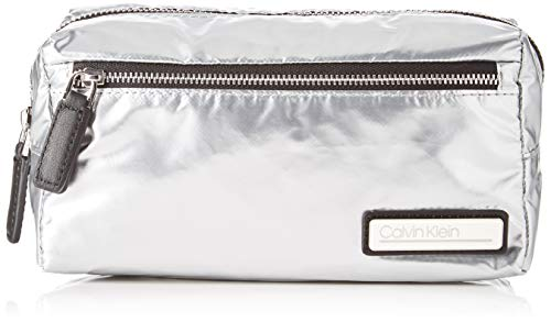 Calvin Klein dames Primary Cosmetic Bag S schoudertas, grijs (zilver), 13x24x11,5 cm