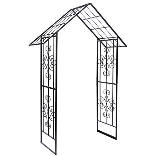 Arco Jardin, Soporte para el Crecimiento del Jardín, Enrejado de Metal, Resistente a la Intemperie, 113 Cm X 60 Cm X 240 Cm, Arco para Plantas Trepadoras (Marrón)