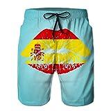 Yuerb Shorts de baño de Secado rápido para niños Shorts de Surf de Playa Shorts con Bandera de España en el TH