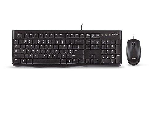 Logitech MK120 Combo Teclado y Ratón con Cable para Windows, Disposición QWERTZ Alemán, Negro 2