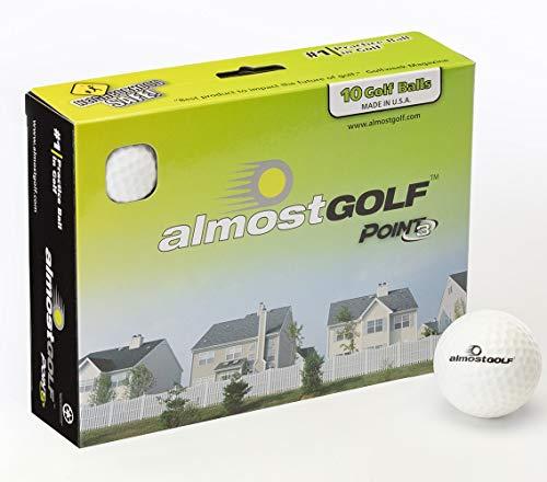 Almost Golf Longridge Juego de 10 Pelotas de Golf de Entrenamiento Blanco Blanco