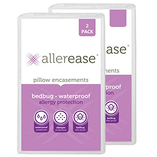AllerEase Bed Bug Allergy Protection Zippered Pillow...