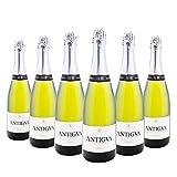 ANTIGVA Blanc de Blancs Cava Brut Nature - Vino Espumoso Premium - D.O. Cava - Alt Penedés - Caja de 6 Botellas x 750 ml