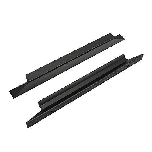 10 tiradores para muebles de cocina de color negro, distancia entre ejes: 128 mm, para armarios de cocina o armarios