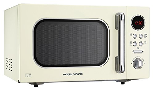 Morphy Richards Microwave Accents Colour Collection 511511 23L Digital Solo Microwave Cream