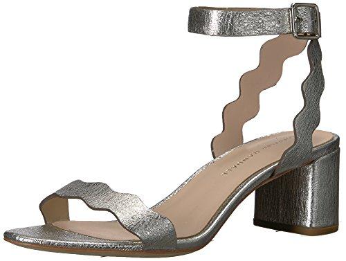 Loeffler Randall Damen EMI (Crinkle Metallic) Sandalen mit Absatz, Silber, 37 EU