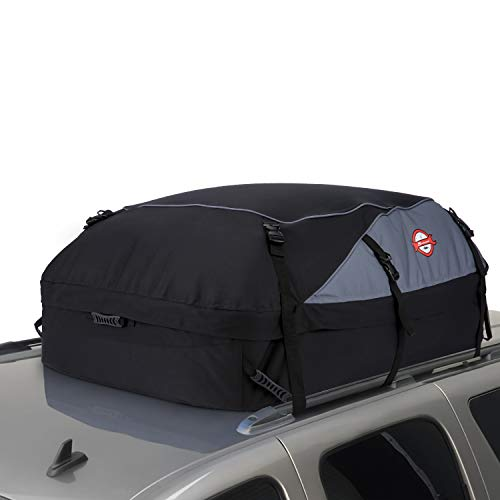 adakiit Car Roof Bag Top Carrier Cargo Storage Rooftop Luggage Waterproof Soft Box Luggage Outdoor Water Resistant for Car with Racks,Travel Touring,Cars,Vans, Suvs (20 Cubic Feet)