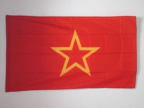 AZ FLAG Flagge ROTE Armee DER UDSSR 1918-1991 90x60cm - SOWJETUNION BAUERNARMEE Fahne 60 x 90 cm Scheide für Mast - flaggen Top Qualität