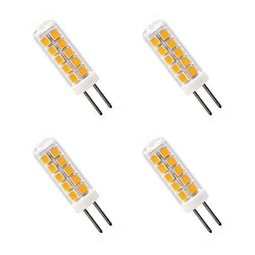2 W G4 LED ciepła biel 3000 K zastępuje lampę halogenową 30 W AC 12 V bez możliwości ściemniania G4 żarówki LED do oświetlenia domu, 4 sztuki w opakowaniu [wieloraz]