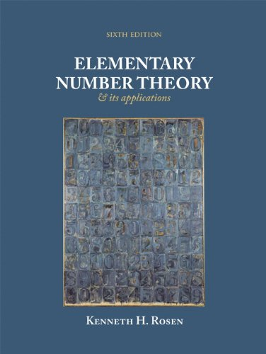 Elementary Number Theory and Its Application, 6th Edition