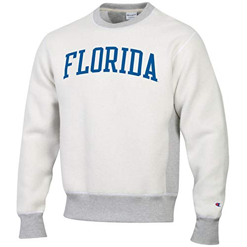 Champion Men's NCAA Inside Out Reverse Weave Crew Sweatshirt-Florida Gators-XL