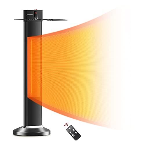 Calentador de patio, calentador de espacio para calentador de infrarrojos, 24 tiempos de apagado automático, calentador radiante,...