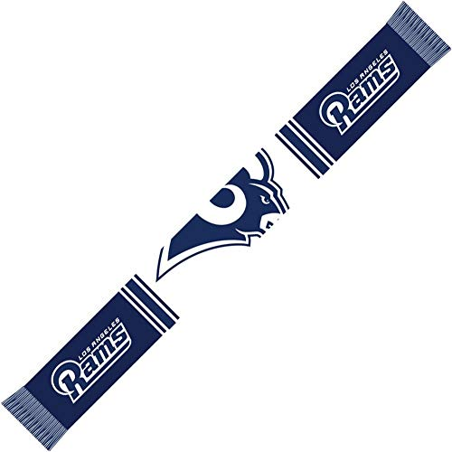 Forever Collectibles Los Angeles Rams Bar Scarf Colour Rush Navy/White - One-Size