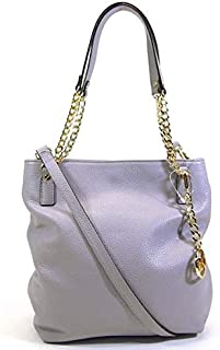 Michael Kors 35H5GTCM8E jet Set Gold Chain Medium messenger Crossbody Pebble Leather Bag in LILAC