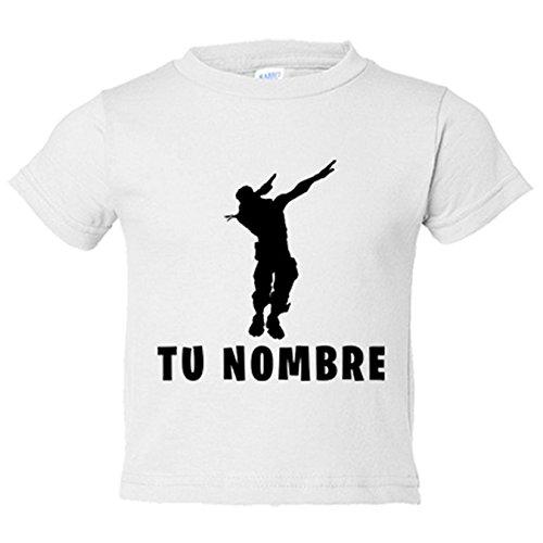 Camiseta niño pose Dab personalizable con nombre - Blanco, 7-8 años