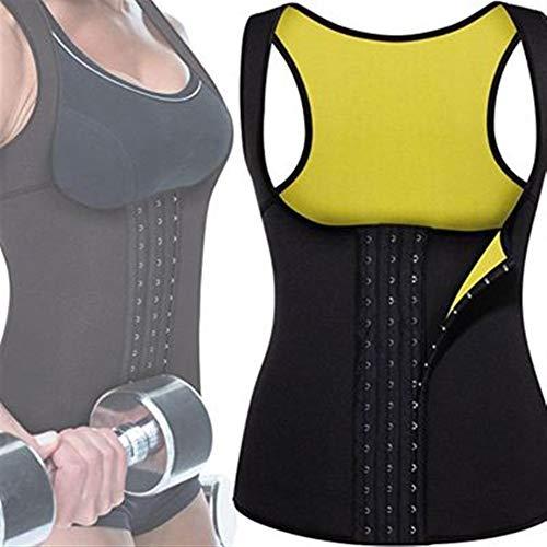 CRXL shop-Mantas Eléctricas Fajas Reductoras Adelgazantes Camiseta Reductora Sauna Chaleco Neopreno de Sudoración para Deporte Quema Grasa (Color : Black, Size : XL)