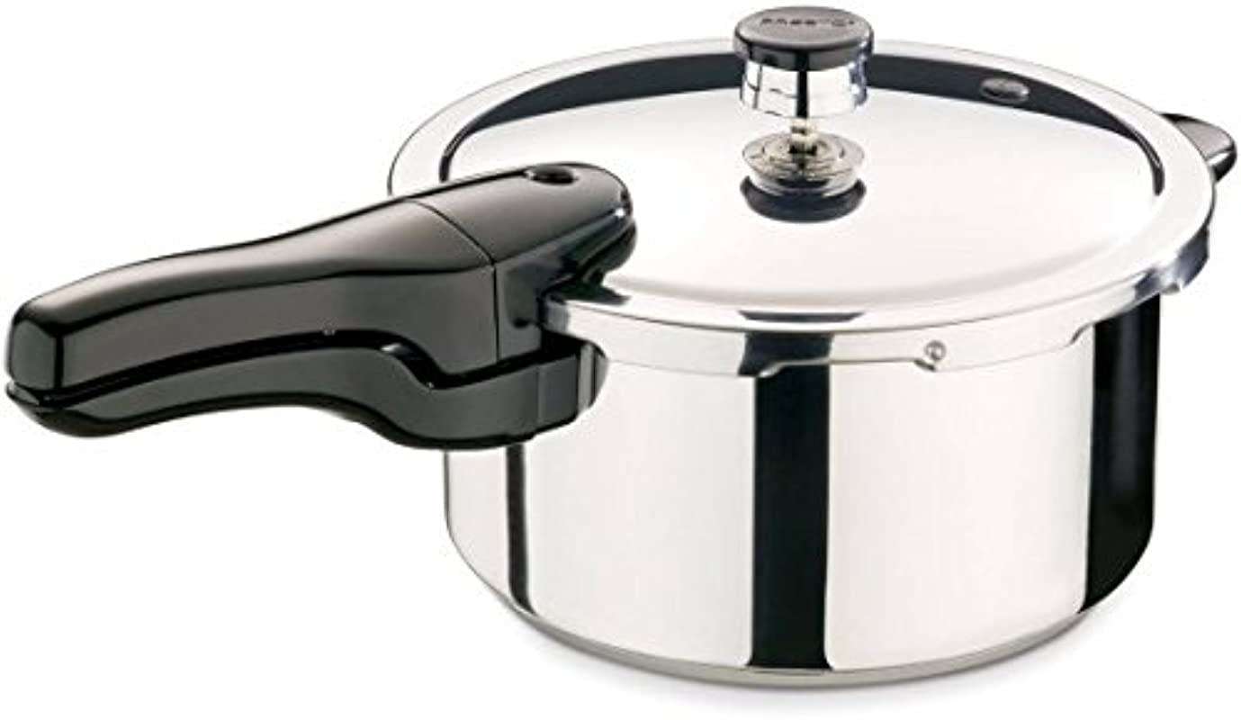 Presto 4 Quart Stainless Steel Pressure Cooker 01341 1