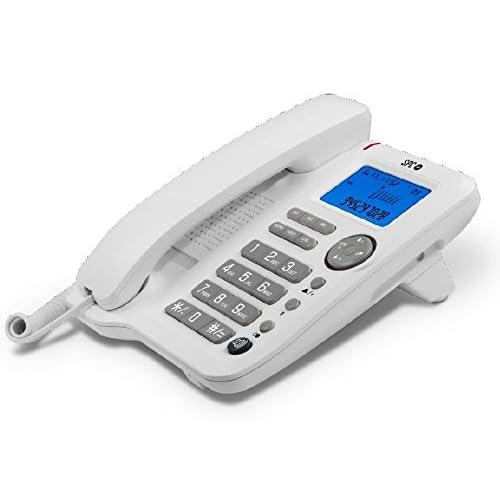 SPC Office - teléfono fijo con 3 memorias directas, identificación de llamadas y manos libres