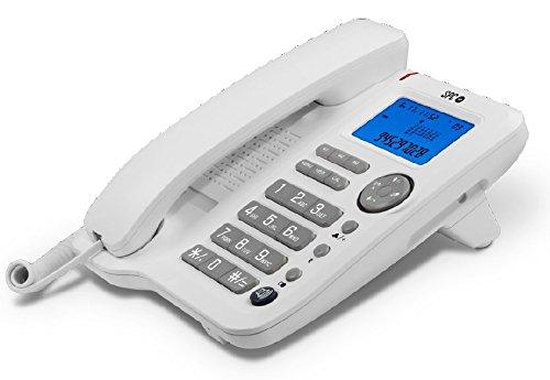 Teléfono fijo con identificador de llamadas y manos libres
