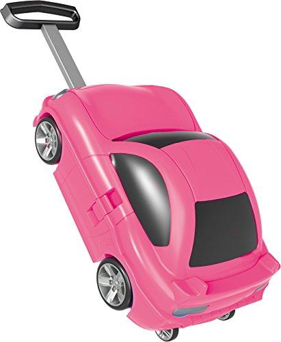 Bieco kindertrolley sportwagen, ABS-kunststof, circa 49 x 30 x 22 cm kinderbagage, 49 cm, 5 L, roze