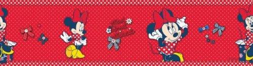 Graham & Brown Selbstklebend-Borte'Minnie Red Bow Border' Kollektion Kids@Home IV, mehrfarbig, 70-033