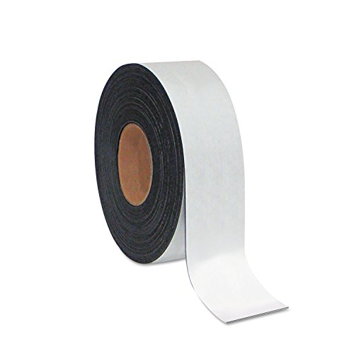 MasterVision FM2118 Dry Erase Magnetic Tape Roll, White, 2-Inch x 50 Ft.