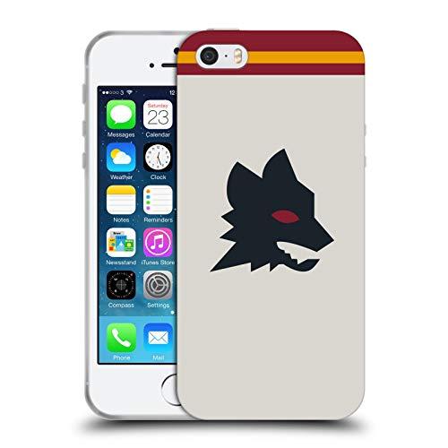 Head Case Designs Ufficiale AS Roma Fuori Casa 2020/21 Kit Crest Cover in Morbido Gel Compatibile con Apple iPhone 5 / iPhone 5s / iPhone SE 2016