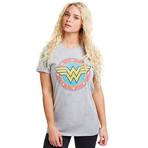 DC Comics WW Classic Camiseta, Gris (Grey Heather SPO), 40 (Talla del Fabricante: Medium) para Mujer